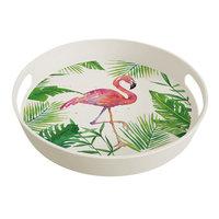 Groot bamboe dienblad van PPD - Tropical Flamingo bamboo tray