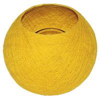 FairTrade Waxinehouder draadbal geel