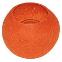 FairTrade Waxinehouder draadbal oranje