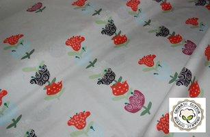 Tafelkleed Biologisch katoen, bloem 160x150cm