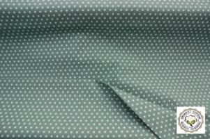 Tafelkleed Biologisch katoen, groen stip 155x115cm