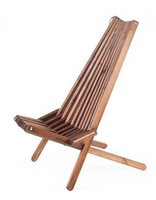EcoFurn EcoChair, stoel in bruin geolied dennenhout