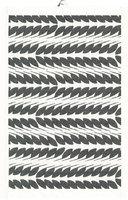 Placemat/handdoek Biologisch katoen en linnen, zwart blad 35x50cm