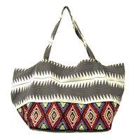 FairTrade Shopper/strandtas Aztec Red/Black/White