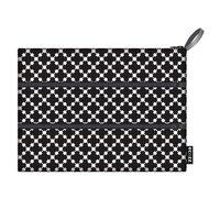 Ecozz Etui Zip Bag Squares Black gemaakt van gerecycled plastic.