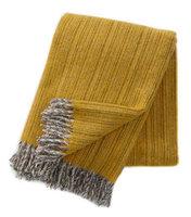 Klippan deken van Eco wol Björk geel