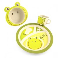 PureKids Bamboe kinderservies set Kikker