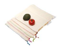 AhTable fruit en groente zakken L 30x33cm, Organisch katoen