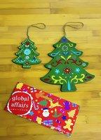 Global Affairs Fairtrade kerstboom hangers groen