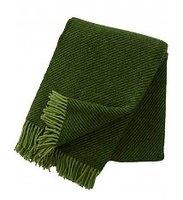 Klippan deken van Eco wol Linus groen