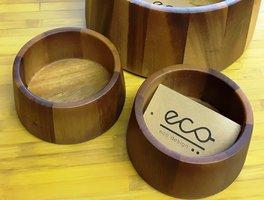 Eco Design kleine schaal van rubberhout