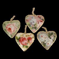 Imbarro metalen hart hangertjes Sweet Hearts