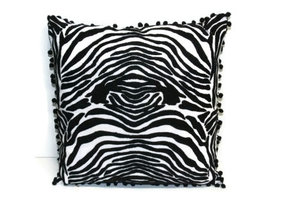 Only Natural Fairtrade kussen met Zebra print