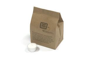 FairTrade waxines wit, zak 20 stuks