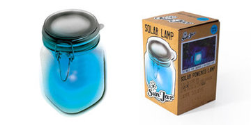 Suck UK Sunjar Solar Led lamp Blue