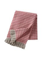 Klippan deken/plaid van Eco wol Stitch Pink
