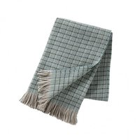 Klippan deken/plaid van Eco wol Stitch Green