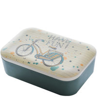 BambooFriends grote Bamboe Lunchbox Bike Fun - Eco broodtrommel