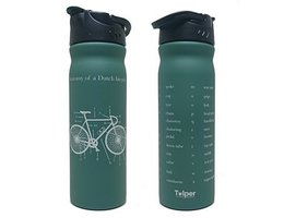 Tulper RVS drinkfles 500ml groen Bicycle, nu met GRATIS sportdop.