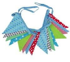 Global Affairs Fairtrade Blue Combinations vlaggenlijn van stof