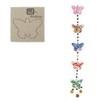 FairTrade papierslinger met 3D vlinders