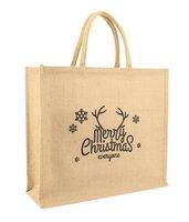 Kersttas van duurzaam jute