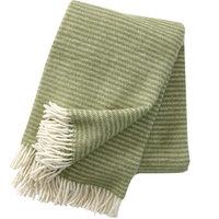 Klippan deken van Eco wol Ralph Linolium Groen