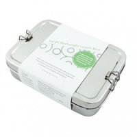 Large Rectangle Lunch Box, RVS broodtrommel met mini container.