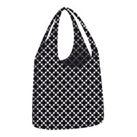 Ecozz opvouwbare shopper Little Big Bag Squares Black