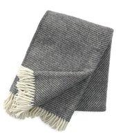 Klippan deken van Eco wol Linus Dark Grey