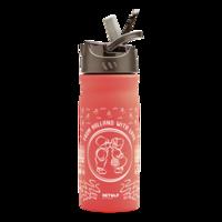 ReTulp RVS drinkfles 400ml roze Dutch kiss, met handige drinktuit.