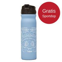 Retulp RVS drinkfles 500ml blauw Ocean, met drinktuit.
