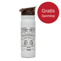 Retulp RVS drinkfles 500ml grijs Ocean, met drinktuit.