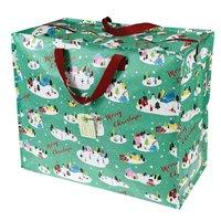 Jumbo Bag van gerecycled plastic Christmas Wonderland