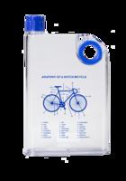 ReTulp Messenger Bottle Bicycle Blue, Platte water fles 380ml