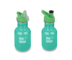 Kid Kanteen Classic Sea Crest 355ml, kleine RVS drinkfles Turquoise