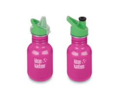 Kid Kanteen Classic Wild Orchid 355ml, kleine RVS drinkfles in roze