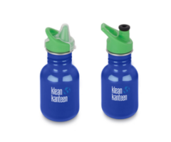 Kid Kanteen Classic Coastal Waters 355ml, kleine RVS drinkfles in blauw