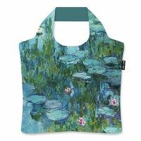 Ecozz opvouwbare shopper van r-Pet, Claude Monet Water Lilies CM03