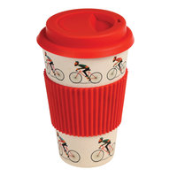 Rex London Travel Mug Le Bicycle, Bamboe koffie to go beker