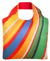 Ecozz opvouwbare shopper van gerecyclede Pet met print Crazy Rainbow 02