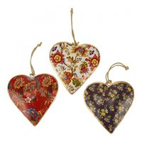 Imbarro metalen hart hangertjes : Hanging Hearts Bright