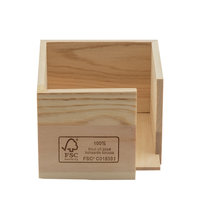 FSC houten servethouder voor servetten 25x25cm (12,5 gevouwen).