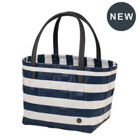 Handed By Shopper Vintage Color Block Ocean Blue White