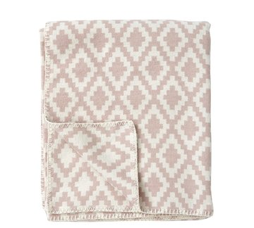 Klippan deken van Organic Cotton Diamonds Pink