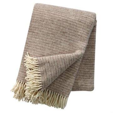 Klippan deken van Eco wol Ralph natural Beige