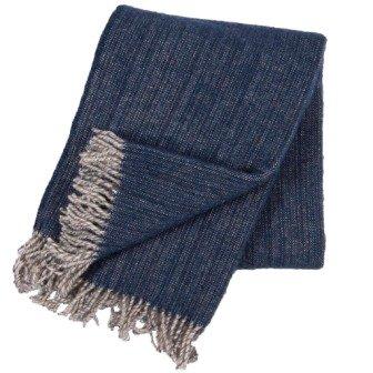 Klippan deken van Eco wol Björk Navy Blue