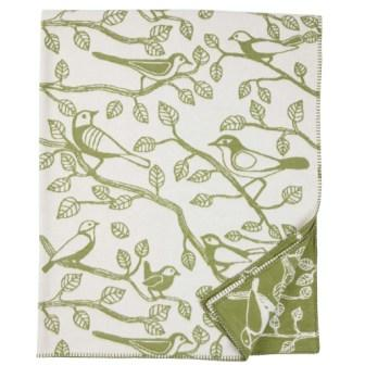Klippan deken van Organic Cotton Sherwood green
