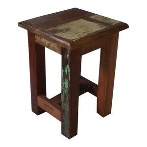 Scrapwood krukje, Fairtrade tafeltje van sloophout