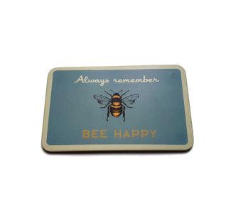 Bamboe ontbijtplankje met Bee Happy print GreenPicnic